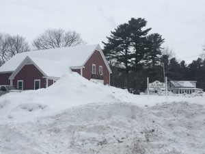 Snow has certainly been a huge issue this winter. Check out how high our snowbanks are!